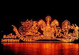 ประเพณีไทย ประเพณีไหลเรือไฟ