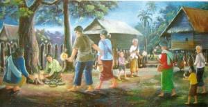 ประเพณีไทย ประเพณีบุญข้าวประดับดิน