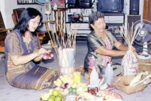 ประเพณีไทย ประเพณีกรวยสลาก