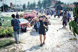 ประเพณีไทย ประเพณีแห่ธงตะขาบ