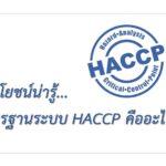 <b>ประโยชน์น่ารู้...มาตรฐานระบบ HACCP คืออะไร ?</b>